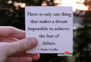 Paulo Coelho quote on failure